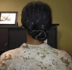 female marines allowed to wear braids and locks